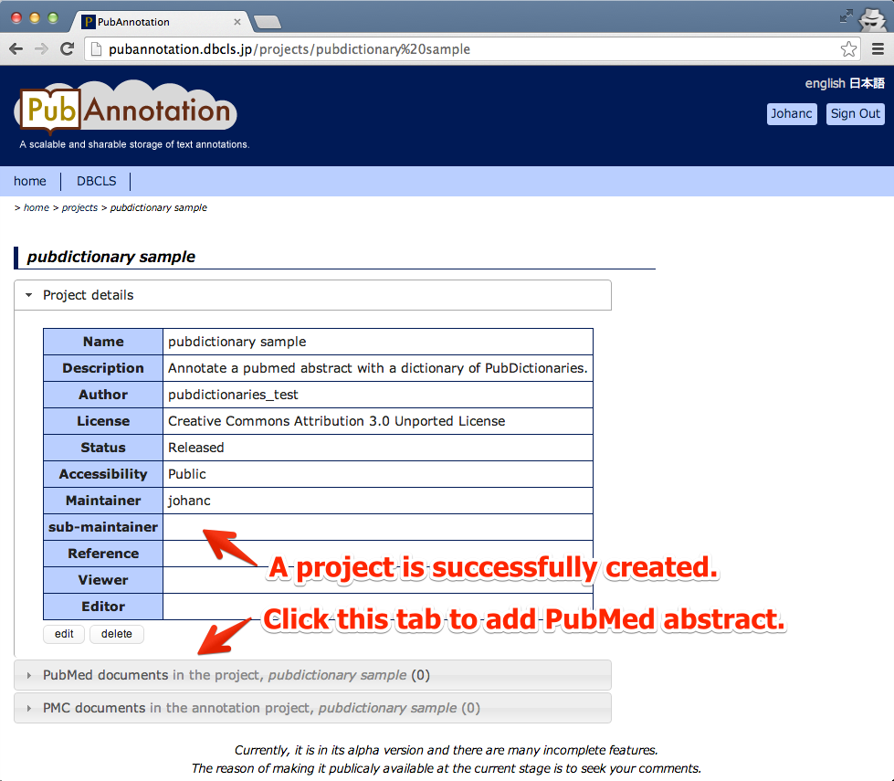 04 - Click the second tab to add PubMed abstract.